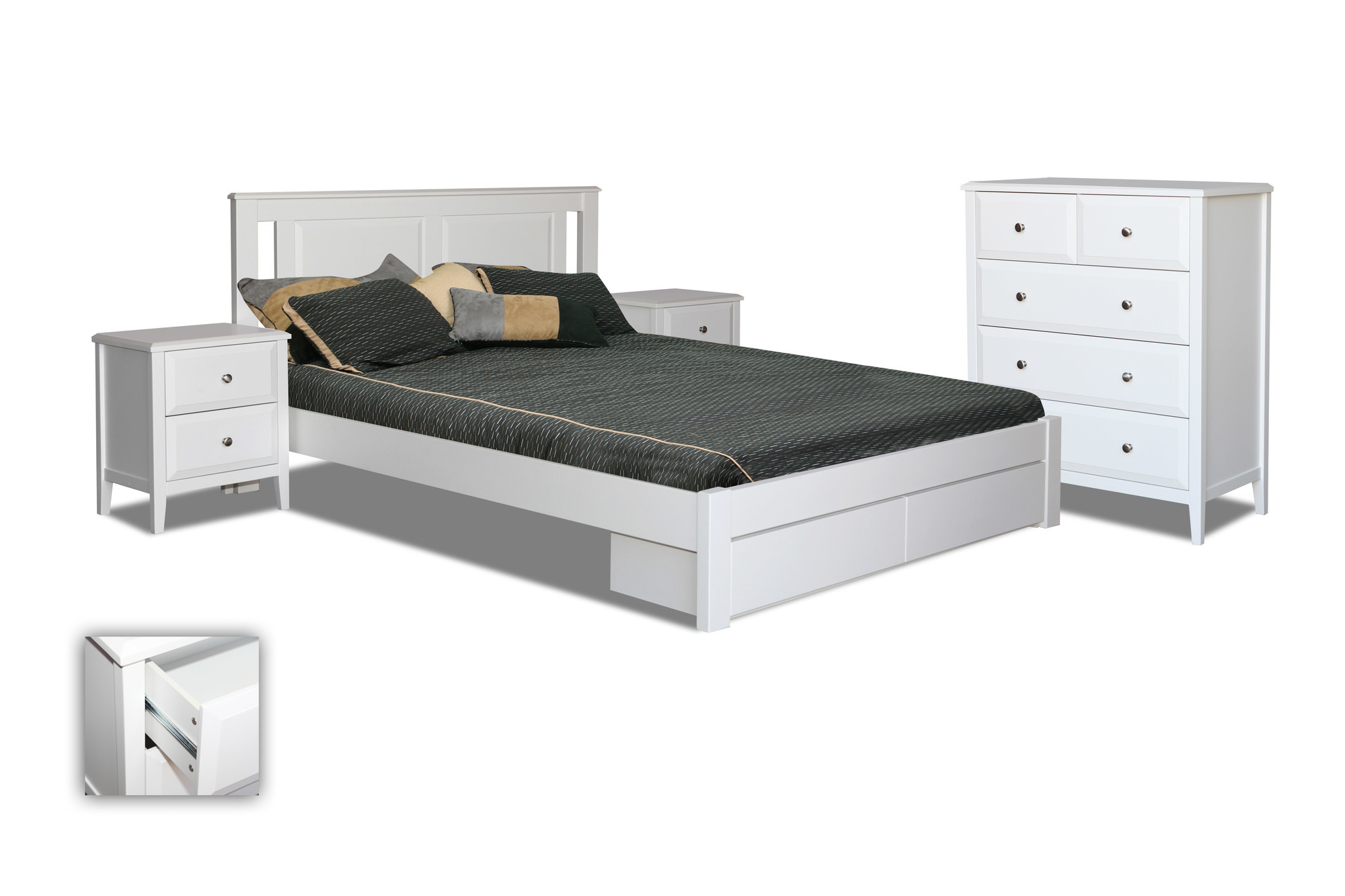 King Single Bed With Drawers Avignon King Single Bed With Storage