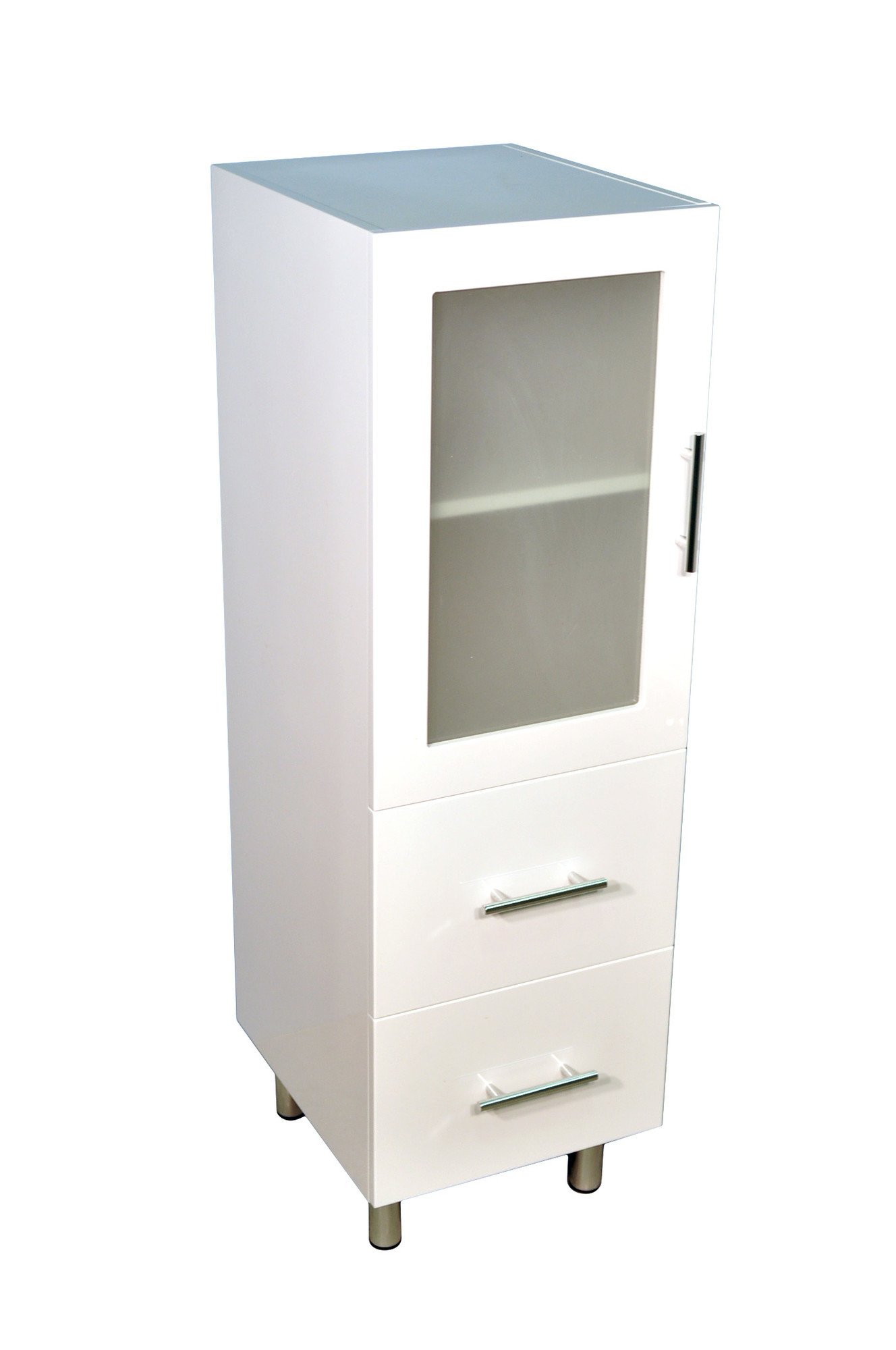 Bathroom Drawers New 1200 Tall Boy Bathroom Cabinet With Two Drawers Ebay