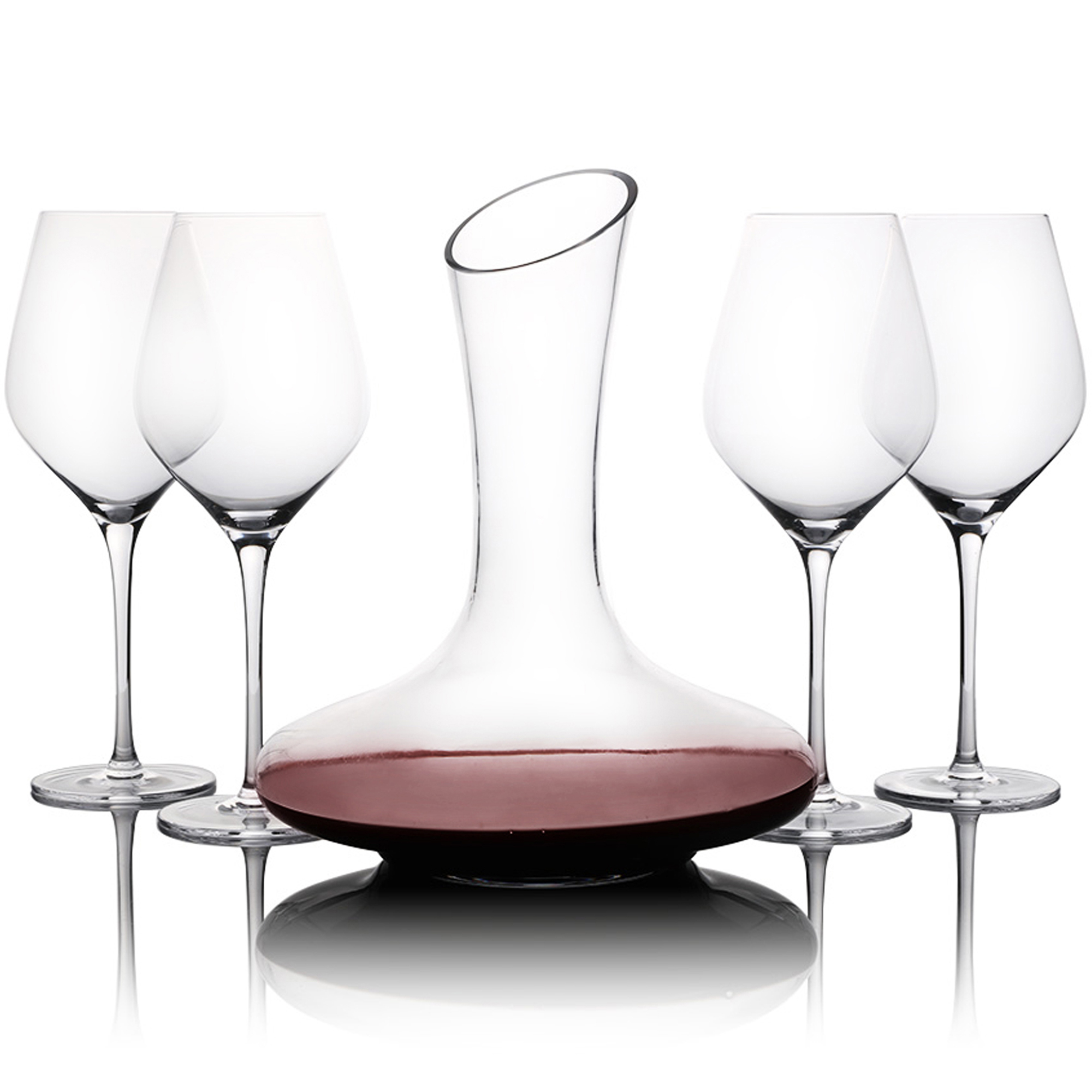 Decanter Wine Glas 5 Piece Wine Glass Decanter Set