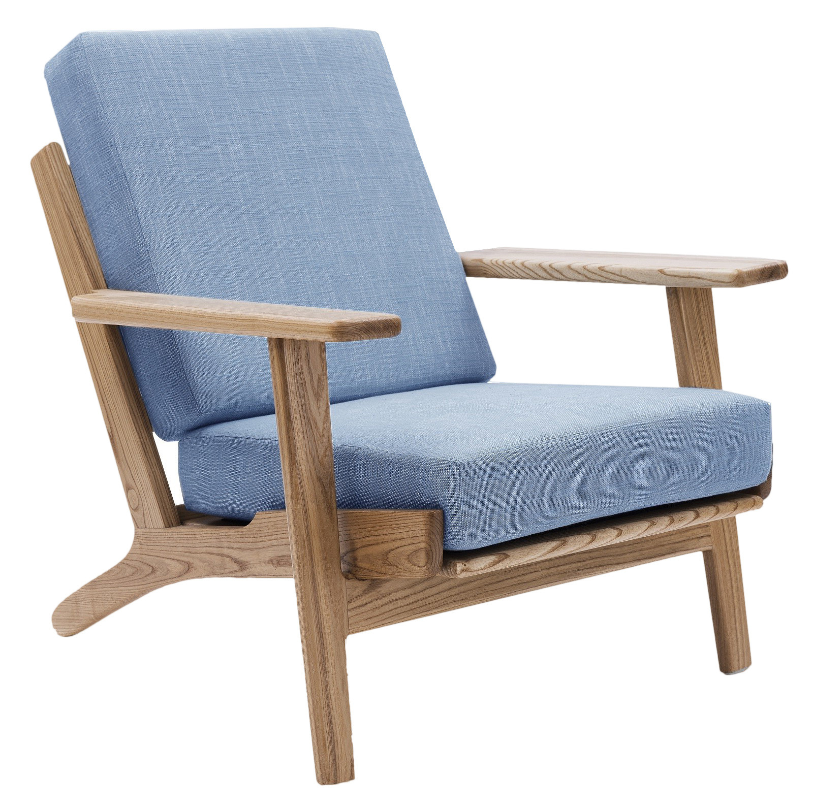 Hans Wegner Sofa Replica Light Blue Replica Hans Wegner Plank Armchair