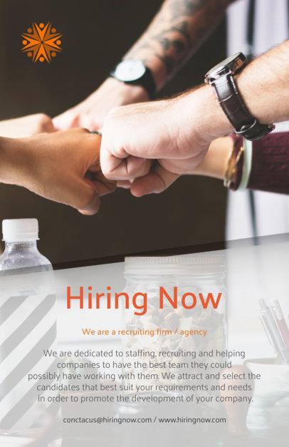 Placeit - HR Job Posting Flyer Design Template