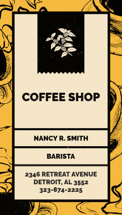 Placeit - Business Card Template for Coffeehouses