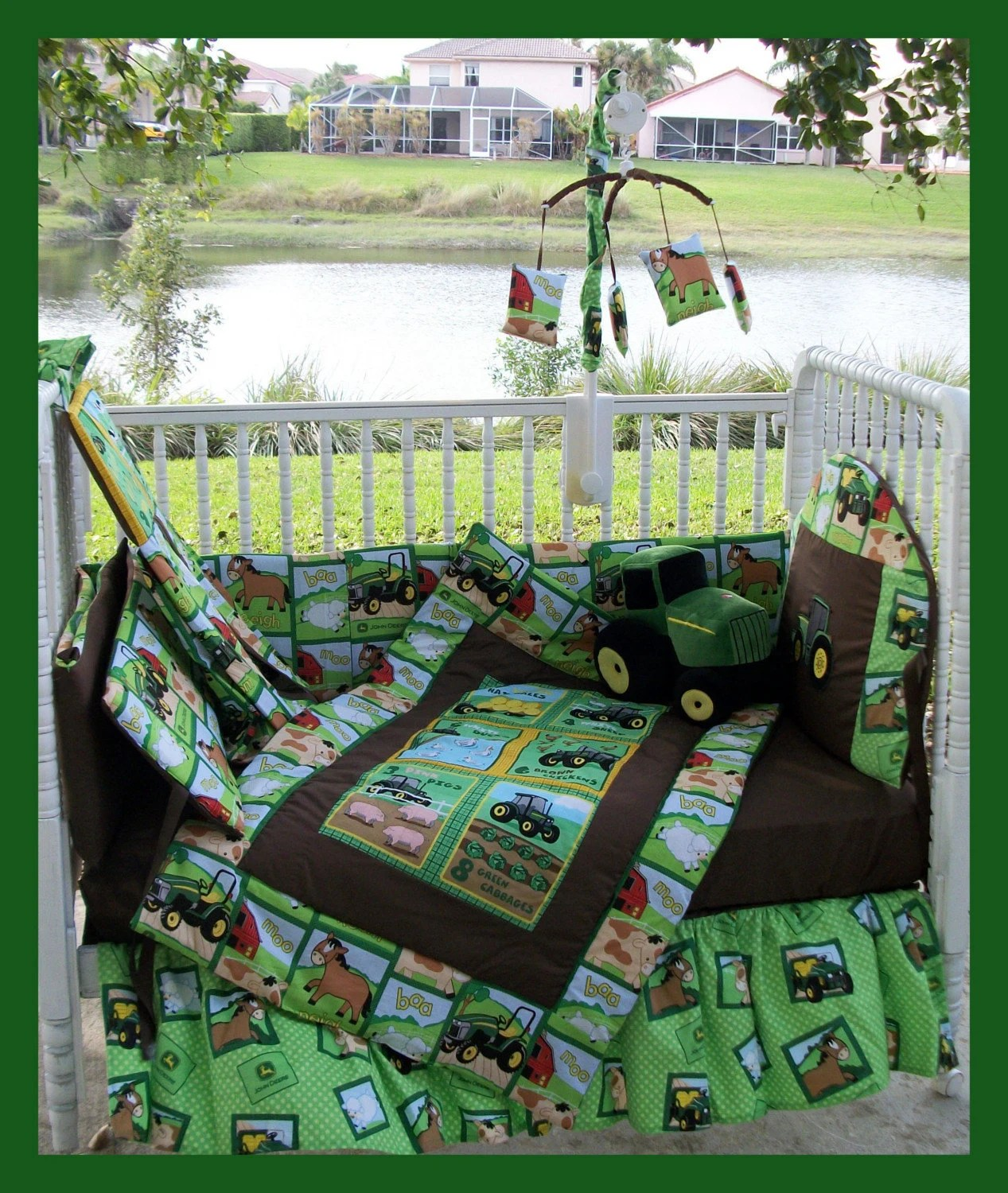 Bettwäsche Traktor John Deere Snap New John Deere Crib Bedding Set With Large Tractor Blanket