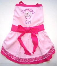 Dog Clothes Birthday Girl Dog Dress Sizes Small Med by ...