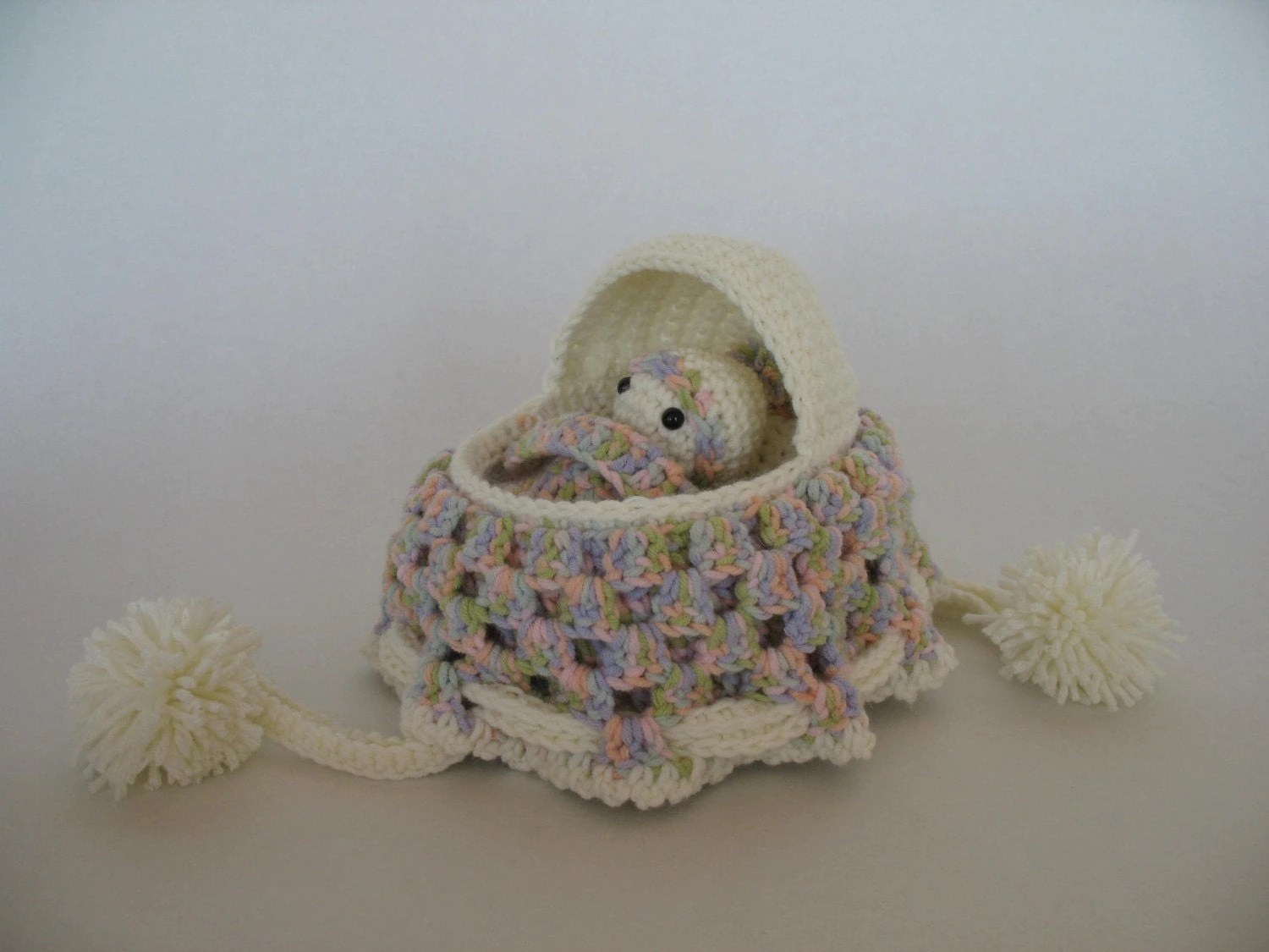 Baby Bassinet Cradle Crochet Cradle Purse Pattern