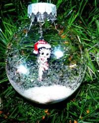 Betty Boop Christmas Ornament Snow Glitter Decoration Semi