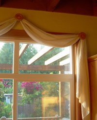 Hemp/Tencel Scarf Valance Window Covering Organic Bliss2