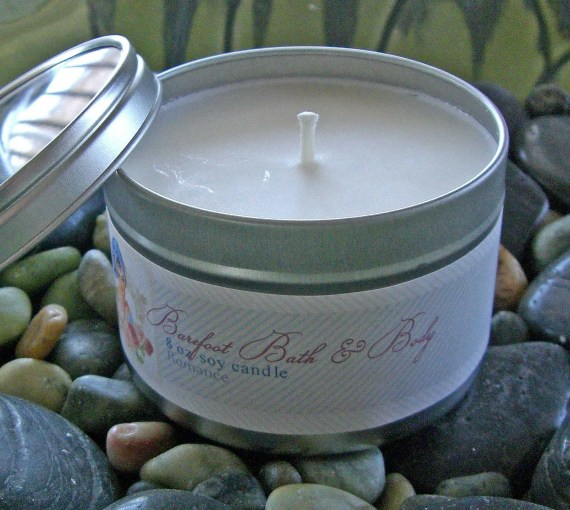 Creme Brulee Soy Candle in Round Container