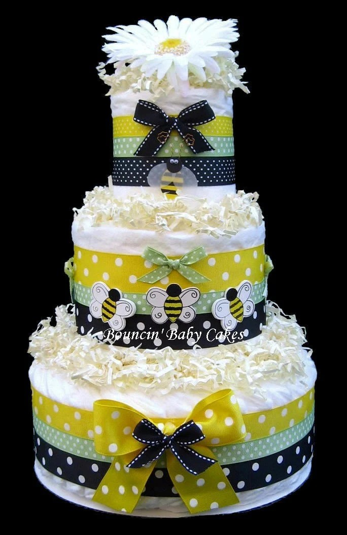 Baby Select Diapers Bumble Bee Diaper Cake Baby Shower Gift