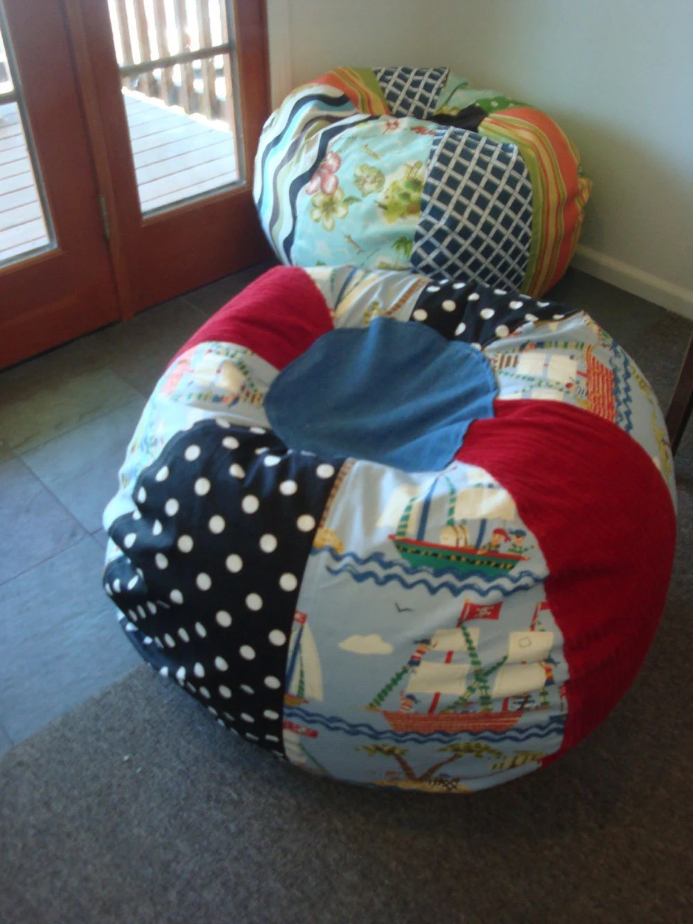 Fun Children39s Pirate Bean Bag Chair By Paniolo On Etsy