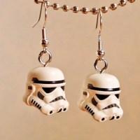 Star Wars LEGO Storm Trooper silver earrings in FREE gift box