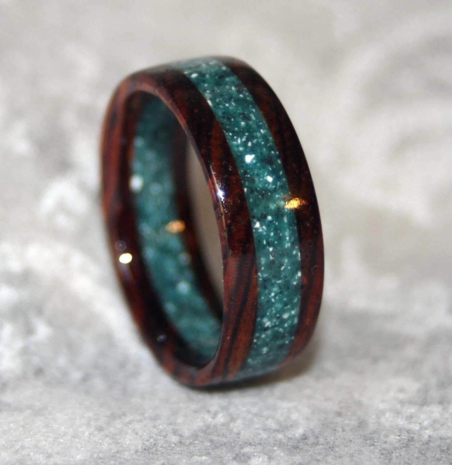 custom wooden or corian wedding band or wood mens wedding bands Custom Wooden or Corian Wedding Band or Ring zoom