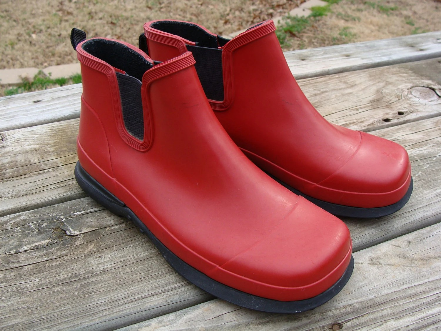 Sale Eddie Bauer Rain Boots Womens Ladies Size 7 Red Lacrosse