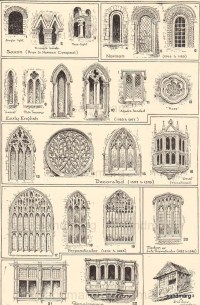 1906 Types of Windows Middle Ages Tudor Renaissance