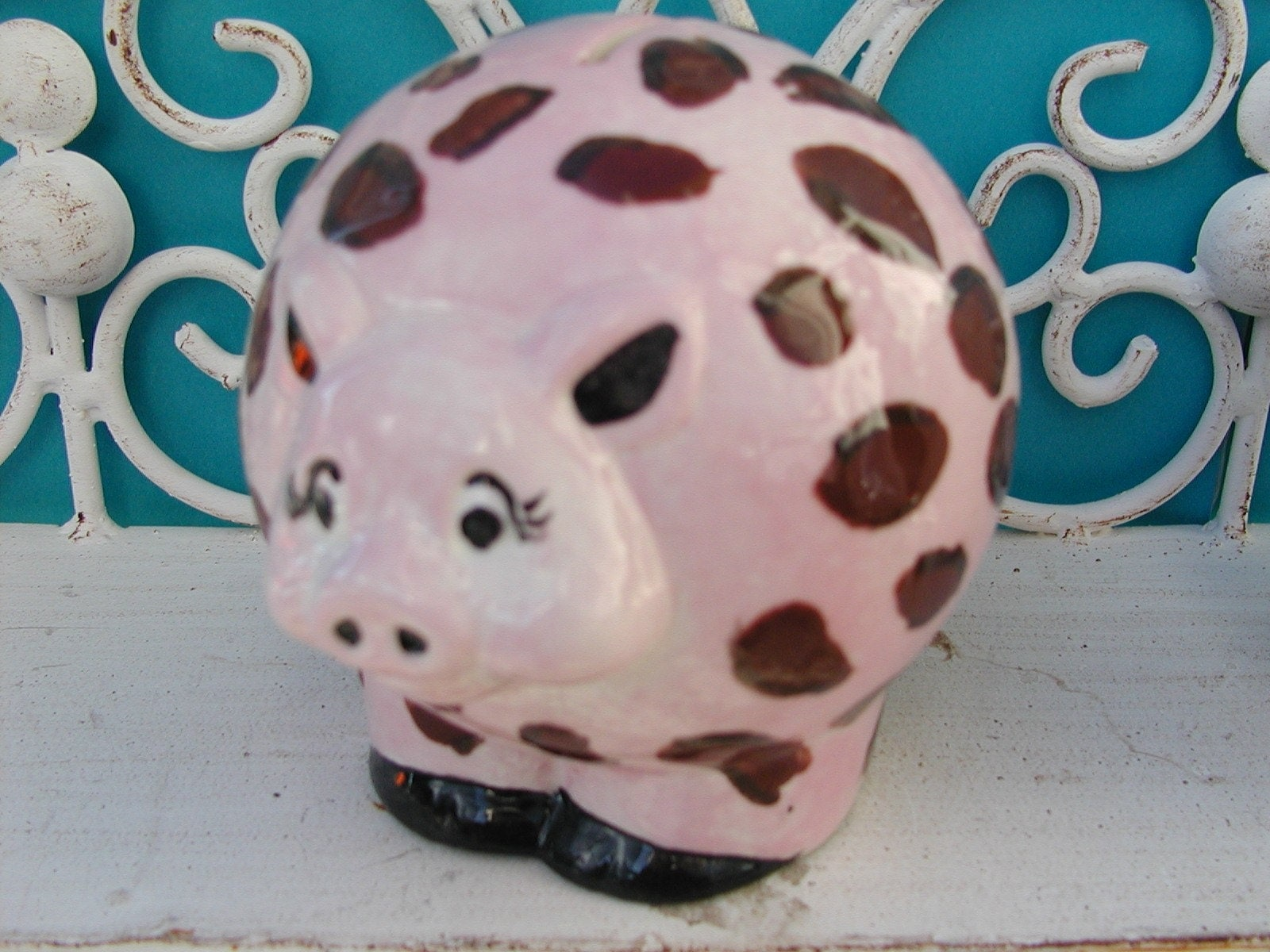 Animal Coin Banks Mini Animal Print Piggy Bank By Thepotteryvilla On Etsy
