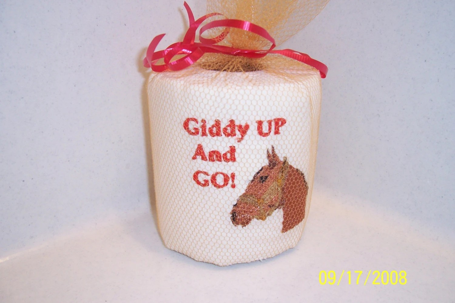 Custom Made Toilet Paper Embroidered Toilet Paper Horse Unique Gift By Grannydebdesigns