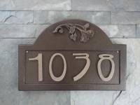 Craftsman Bungalow Ginkgo House Numbers Arts and Crafts