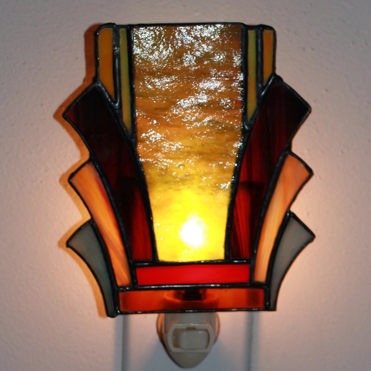 Glass Night Lights Art Deco Stained Glass Night Light 2 By Helixartandglass