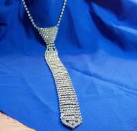 Vintage Rhinestone Necktie Necklace