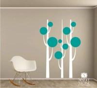 Tree Wall Decals Simple Trees Vinyl Nursery Decor Stickers