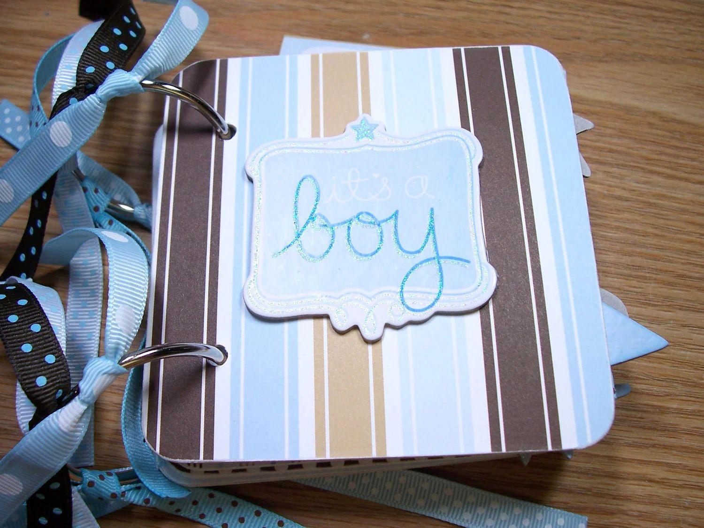 baby boy premade mini scrapbook album zoom