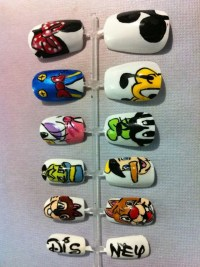 Disney Themed Hand Painted Acrylic Nails Set by Sebsgrrl0 ...