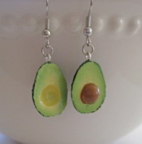 Avocado Earrings Mini Food Jewelry Surgical by Artwonders