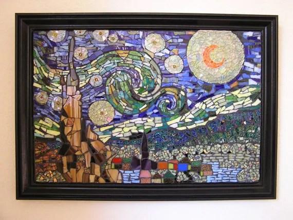 Items similar to Mosaic Art Wall Decor Van Gogh's Starry