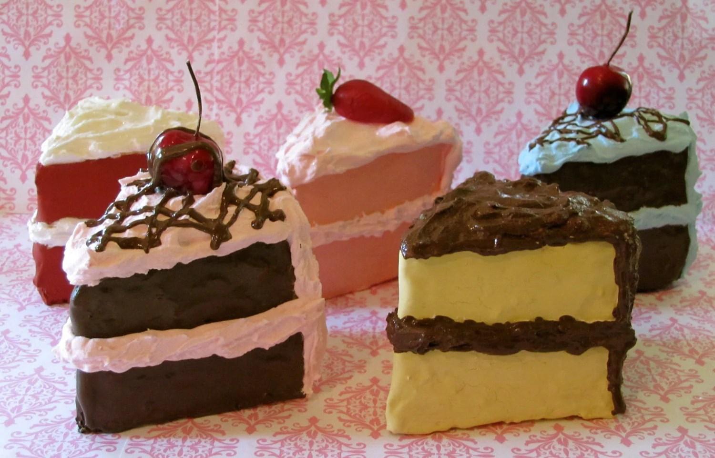 fake cake slices retro cookbook cake fake wedding cakes zoom
