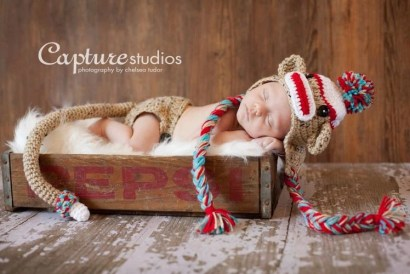 Sock Monkey Hat & Diaper Cover SET Size Newborn 3m 6m Red Blue Photo Prop Custom made boy girl clothes Gift  VERY POPULAR