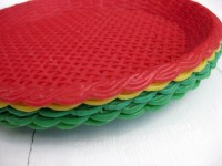 Items similar to Vintage Plastic Paper Plate Holders on Etsy