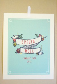 Birth Announcement Wall Art by mylittlebuffalo on Etsy