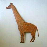 SALE Giraffe large metal wall sculpture by frivoloustendencies
