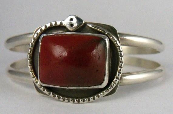 Vermont Red Jasper Sterling Silver Cuff Bracelet