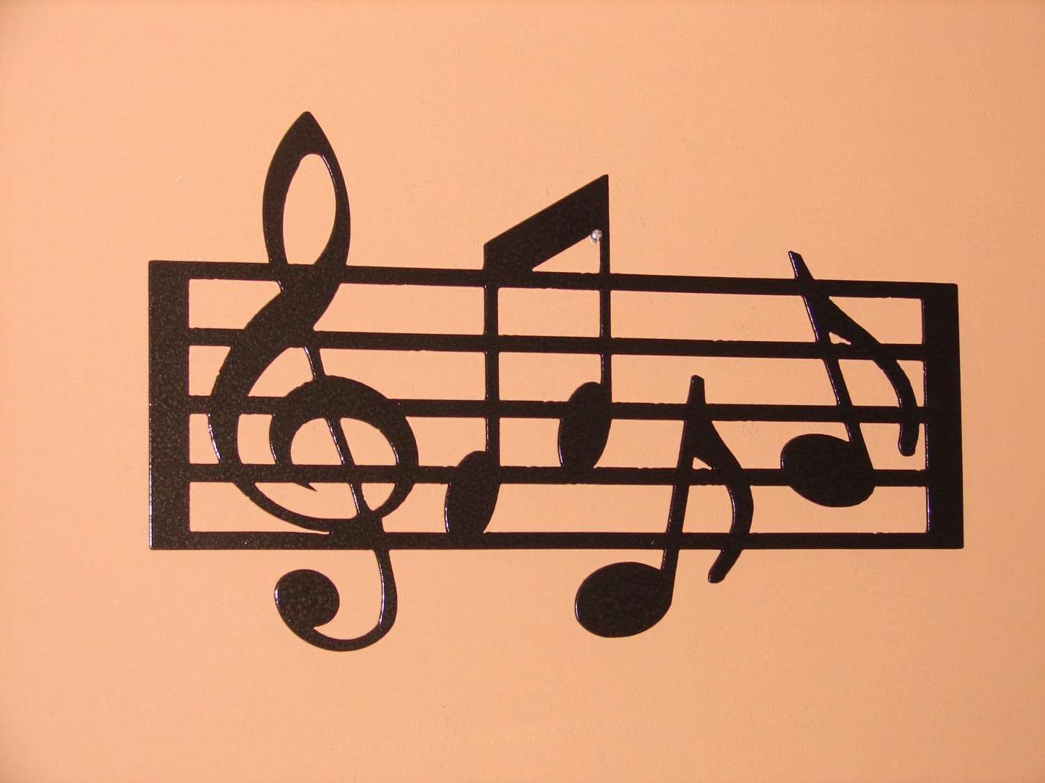 Music Notes Metal Wall Art Metal Wall Art Home Decor Music Notes Musical 18 5in Long 12in