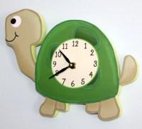 Turtle Wooden WALL CLOCK for Kids Bedroom Baby Nursery WC0062