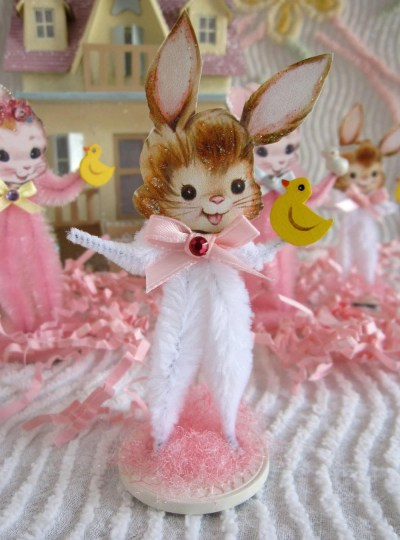 Easter Bunny Vintage Inspired Chenille Easter Bunnies