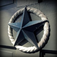 nautical star wall decor white and slate