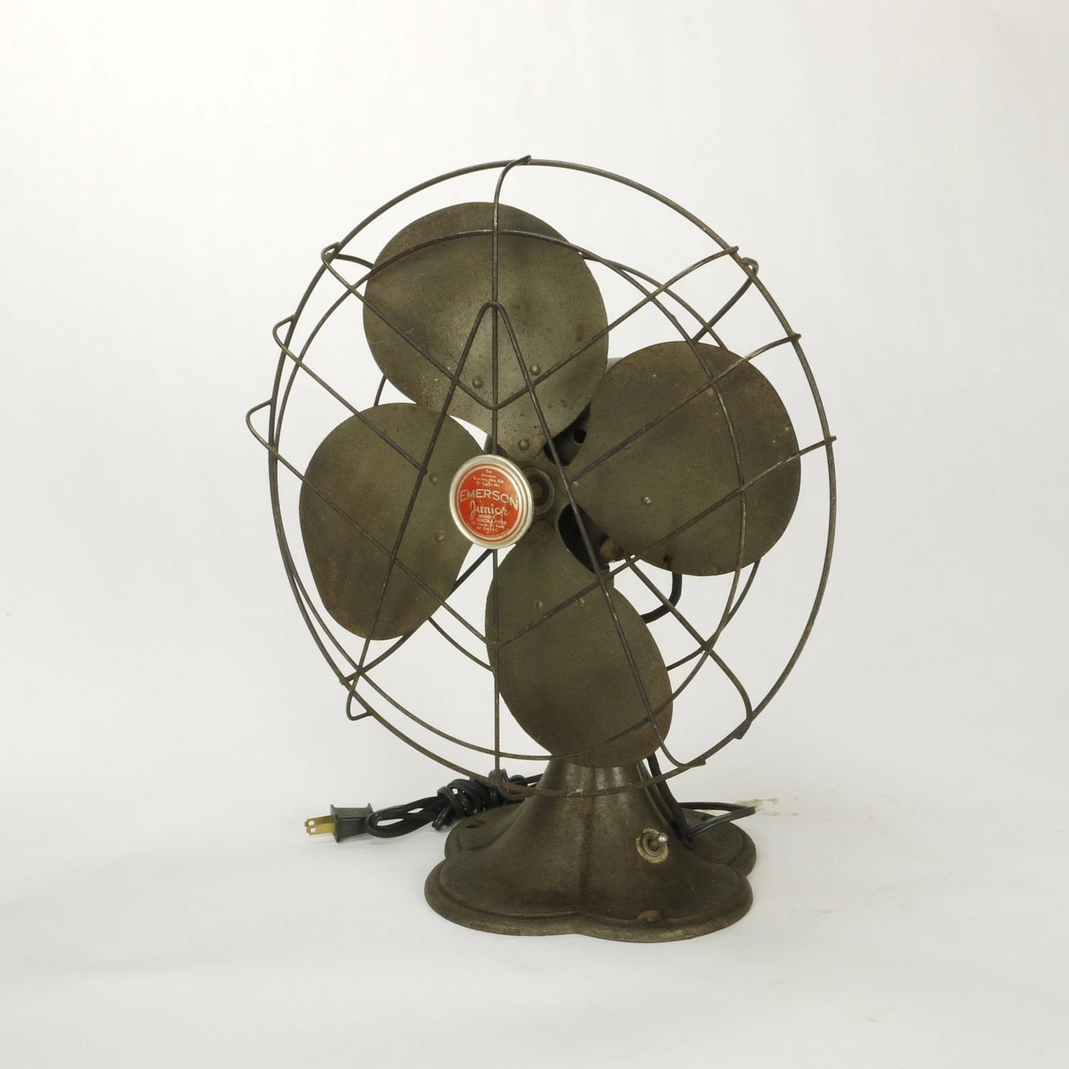 Wooden Electric Fan Vintage Emerson Jr 12 Inch Oscillating Electric By