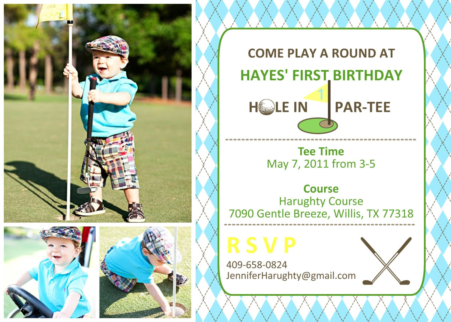 Golf Birthday Invitation You Print