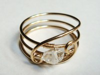 Etsy Jewelry Herkimer Diamond Ring 14K Gold Filled Ring