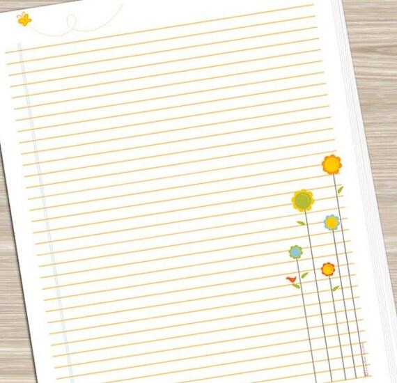 Notebook Paper Printable \u2013 Music