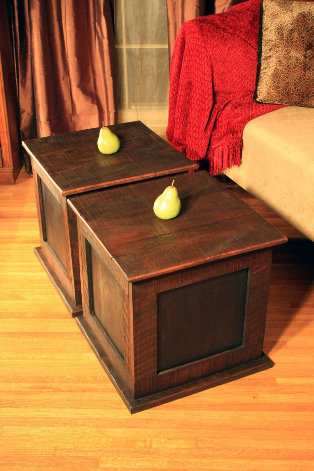 Storage Cube Coffee Table Reclaimed Wood Rustic