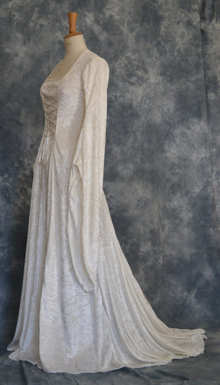tara a medieval elvish renaissance pagan elvish wedding dress zoom
