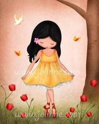 Poster for kid room or nurseryBallet dancer wall art