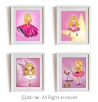 Children wall art Girls room art prints affordable baby girl