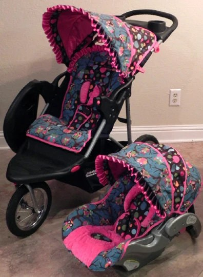 Infant Car Seat Stroller Custom Infant Cutie Owl Baby Trend Flex Loc Car Seat Cover And