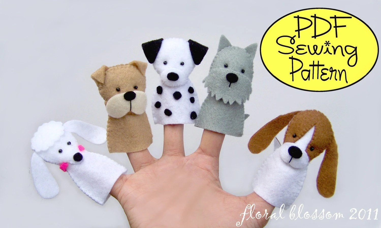 Dog Finger Puppet Template - Costumepartyrun