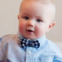 Baby Boy's Bow Tie Navy Blue Gingham bowtie navy