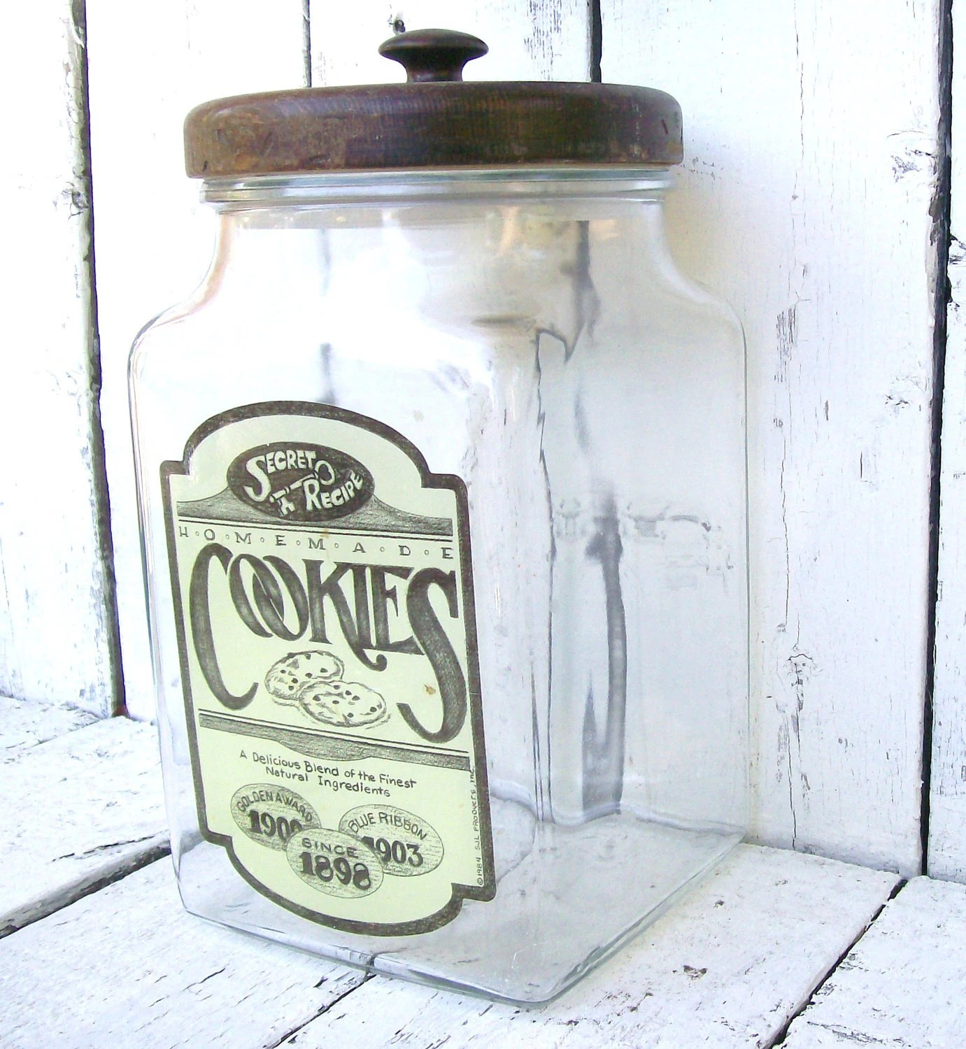 Huge Glass Cookie Jar Sale Vintage Glass Cookie Jar Large Apothecary Vintage